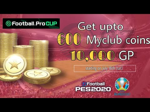 How to get 600 MyClub Coins \u0026 GP | efootball Pro CUP Campaigns | eFootball PES 2020
