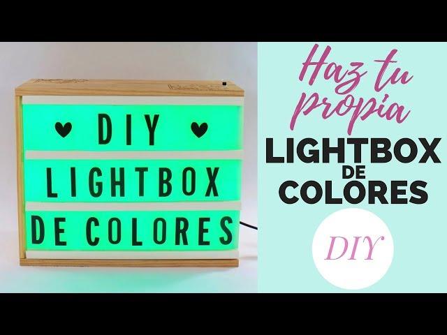 Haz tu propia LIGHTBOX DE COLORES | DIY