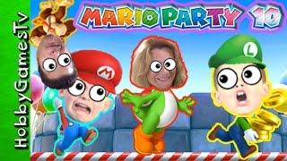 Mario Party 10 BATTLE on Wii U HobbyMema 1st Time Playing Mushroom Park HobbyGamesTV
