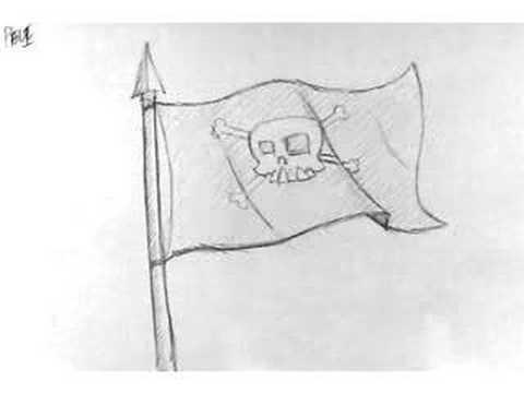 2D Animation roughs_ Flag Flap