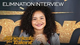 Elimination Interview: Amanda Mena Sends Love To Her Supporters - America's Got Talent 2018
