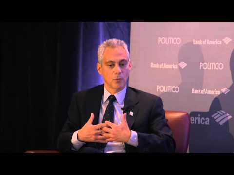 Tense Exchange Between Mike Allen And Clinton Endorser Mayor Emanuel