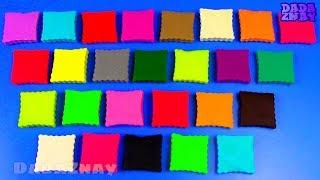 Учим английский Алфавит Учим цвета с пластилином Play Doh Алфавит ABCD для детей Алфавит для детей