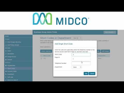 How To Create Short Codes On Midco Hosted VoIP - Admin CommPortal