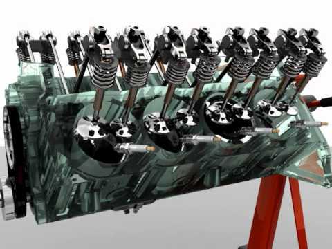Animated V8 Engine transparent