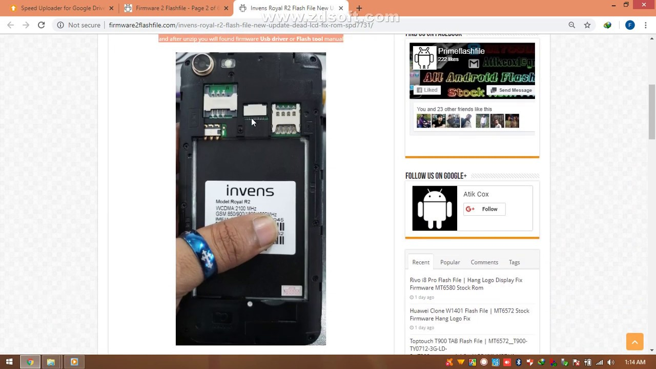 Invens Royal R2 Flash File New Update Dead LCD Fix Rom SPD7731 Download Link