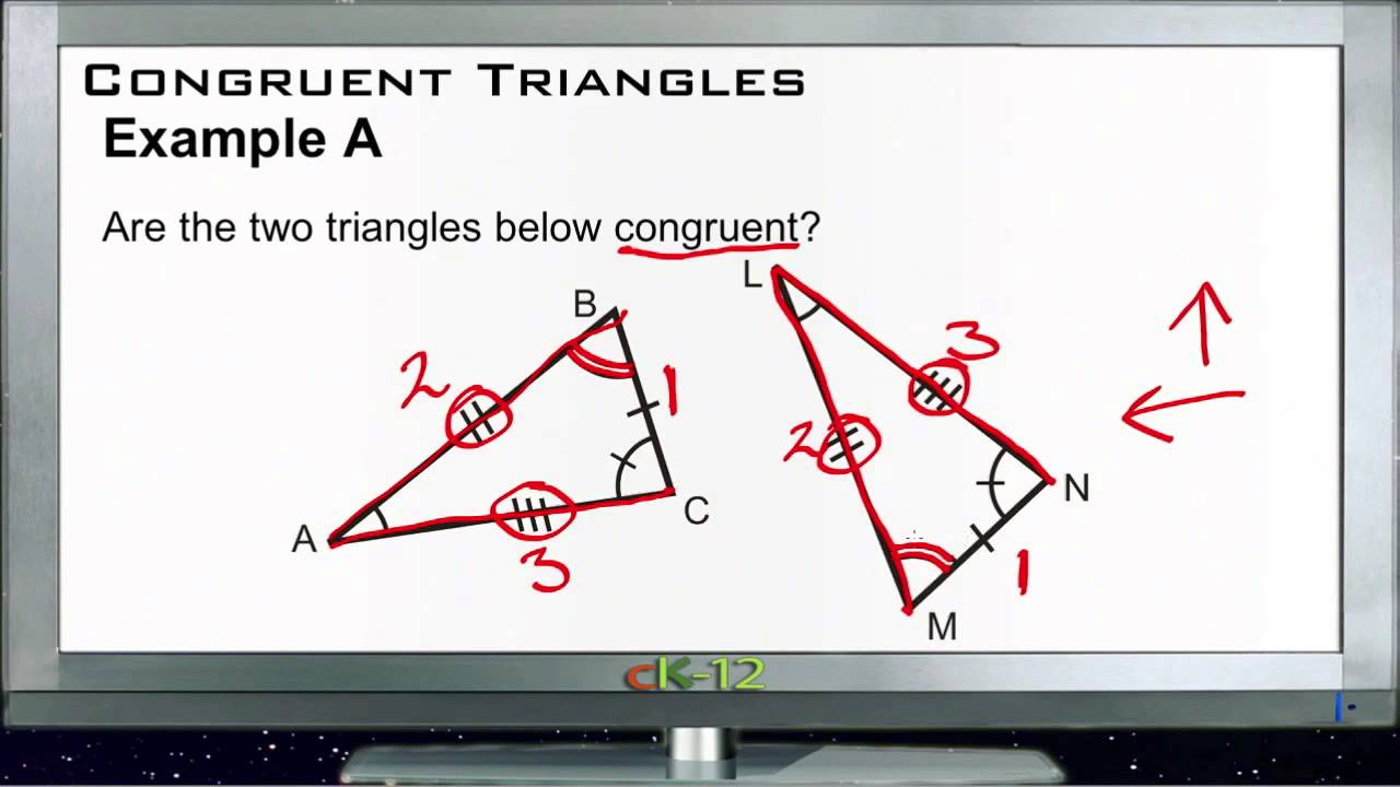 Congruent Triangles Examples Basic Geometry Concepts