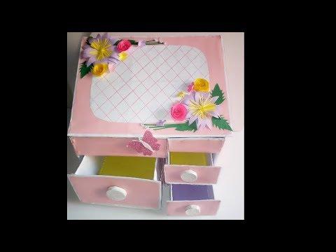 DIY Jewellery  Box/ How To Make Jewellery Box At Home/DIY Jewellery Box Using Cardboard/