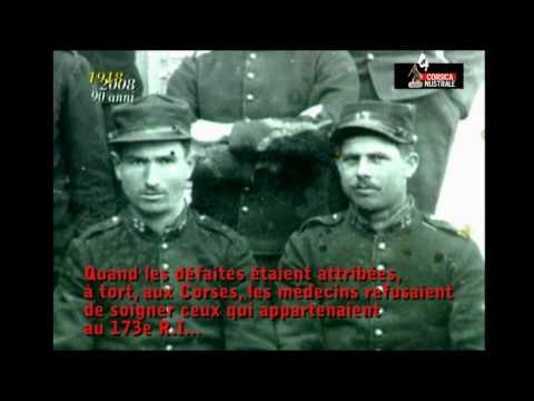 1914-1918, hommage aux 30 000 corses tués.