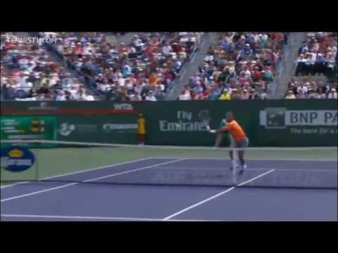 Download Nadal's Hot Shot Volley Vs Djokovic In Indian Wells Final