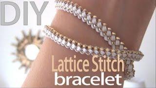 Diy Fashion ♥ Lattice Stitch Bracelet