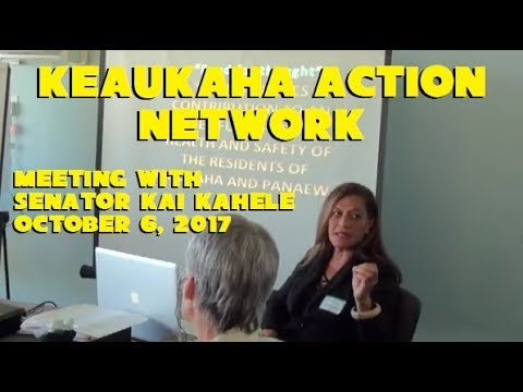 Keaukaha Action Network meeting with Sen Kai Kahele 10-6-17