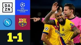 Vidal fliegt! Doppel-Gelb in einer Szene: Neapel - Barcelona 1:1 | UEFA Champions League | DAZN