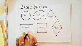 shapes easy drawing step