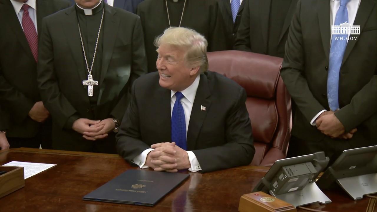 President Trump signs H.R. 390