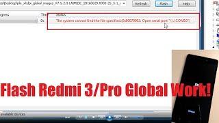 Flash Redmi 3 via MiFlash / Download Mode