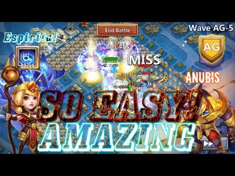 ESPIRITA VS HBM AG WITH ANUBIS EPIC! Castle Clash