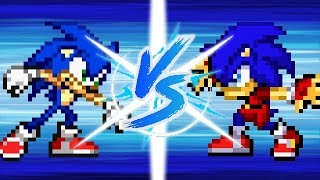 Sonic vs Avalice Sonic (Pivot Sprites Battle)