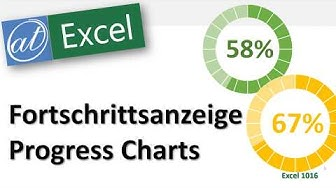 Fortschrittsanzeige - Progress Chart - Excel-Diagramme