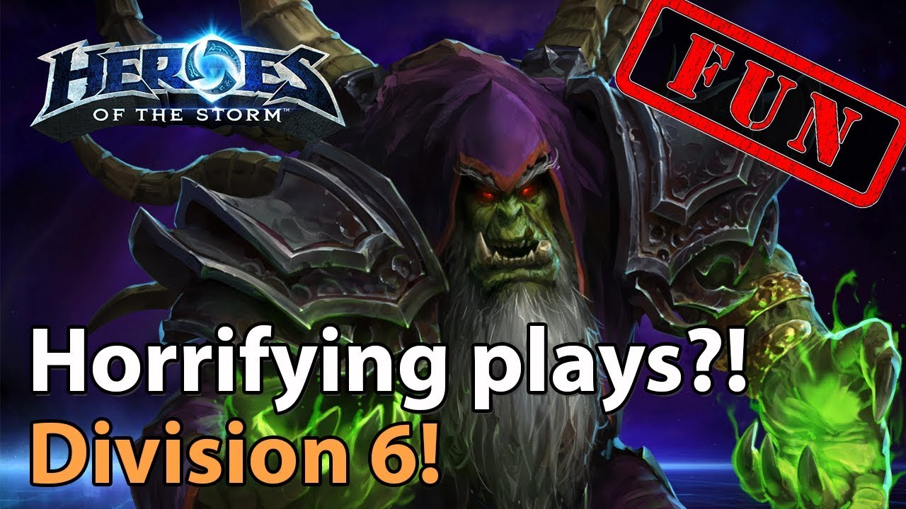 ► Heroes of the Storm: Horrifying Plays!? - More Heroes Lounge Division 6