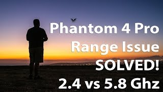 Phantom 4 Pro Range Issue Solved | AUTO Problem 2.4 or 5.8 Ghz