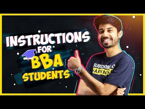 Instructions For BBA Students | A Complete Guideline