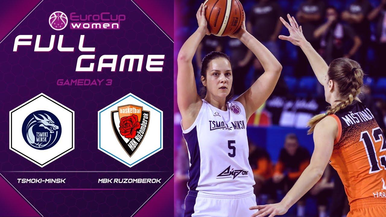 Tsmoki-Minsk v MBK Ruzomberok - Full Game - EuroCup Women 2019