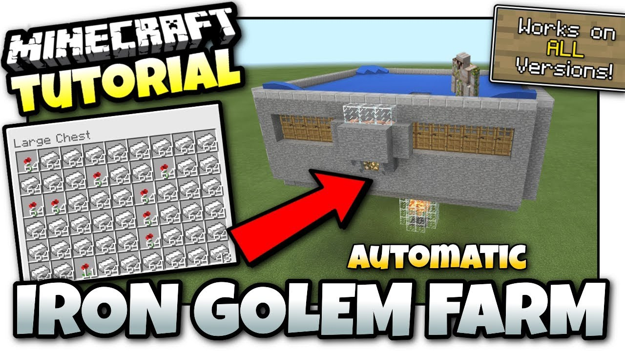 Minecraft - AUTOMATIC GOLEM IRON FARM [ Tutorial ] Works on ALL Versions !