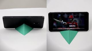 How To Make Paper Phone Stand Without Glue || DIY Origami Mobile Holder