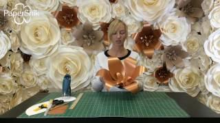 видео Большие цветы из бумаги своими руками