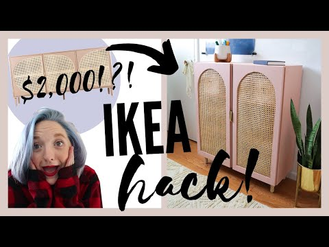 Arched Cabinet IKEA Hack! DIY Office Refresh | PINTEREST MADE ME DO IT EP. 1