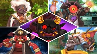 Yo-kai Watch 2 - All Bosses (Boss Rush, No Items)