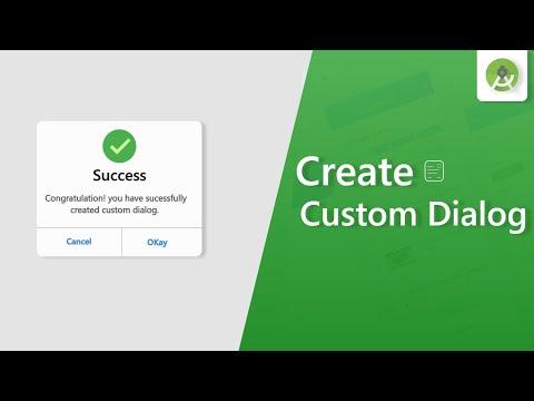 Create Custom Dialog