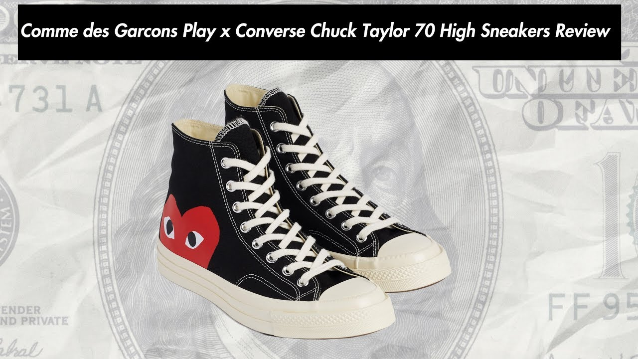 b39cca26258963 Comme des Garcons Play x Converse Chuck Taylor 70 High Sneakers Review