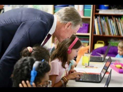 Senator David Perdue, Marty Kemp Visit Mashburn Elementary School