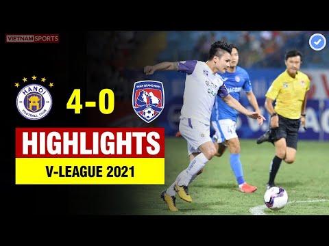 Highlights Hà Nội vs Than Quảng Ninh | Quang Hải ghi bàn đẳng cấp - Hà Nội hủy diệt đối thủ
