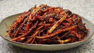 쓴맛빼고 일품인 맛있는 고들빼기 김치 담그는 법 김치요…