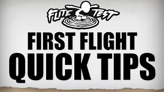 6 Tips For a Successful First Flight | Flite Test