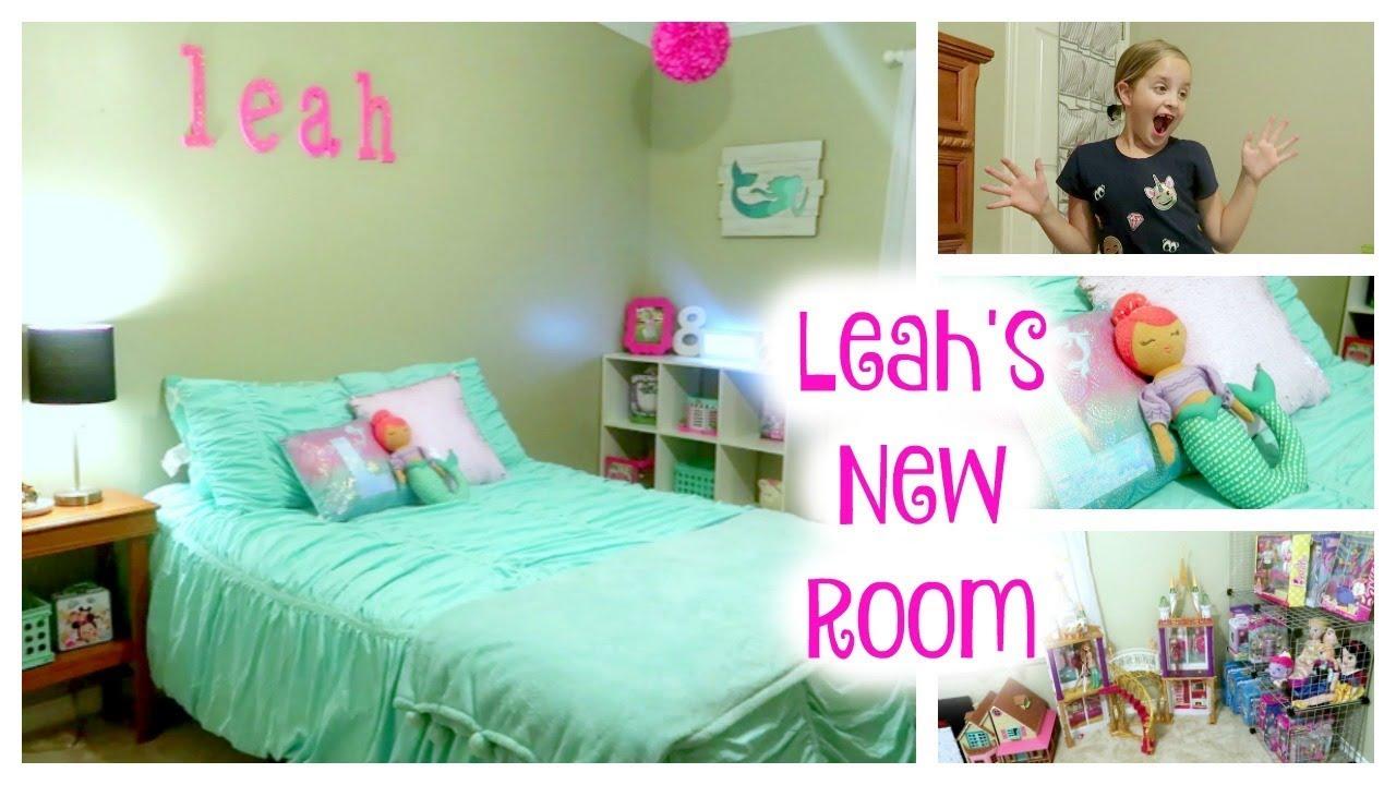 Girls Bedroom Reveal! Leahu0027s Mermaid Bedroom!