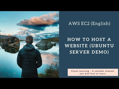How to host a Website in AWS in English (Ubuntu Server)