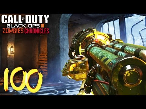 NACHT DER UNTOTEN ROUND 100 ATTEMPT! - BLACK OPS 3 ZOMBIES CHRONICLES GAMEPLAY!