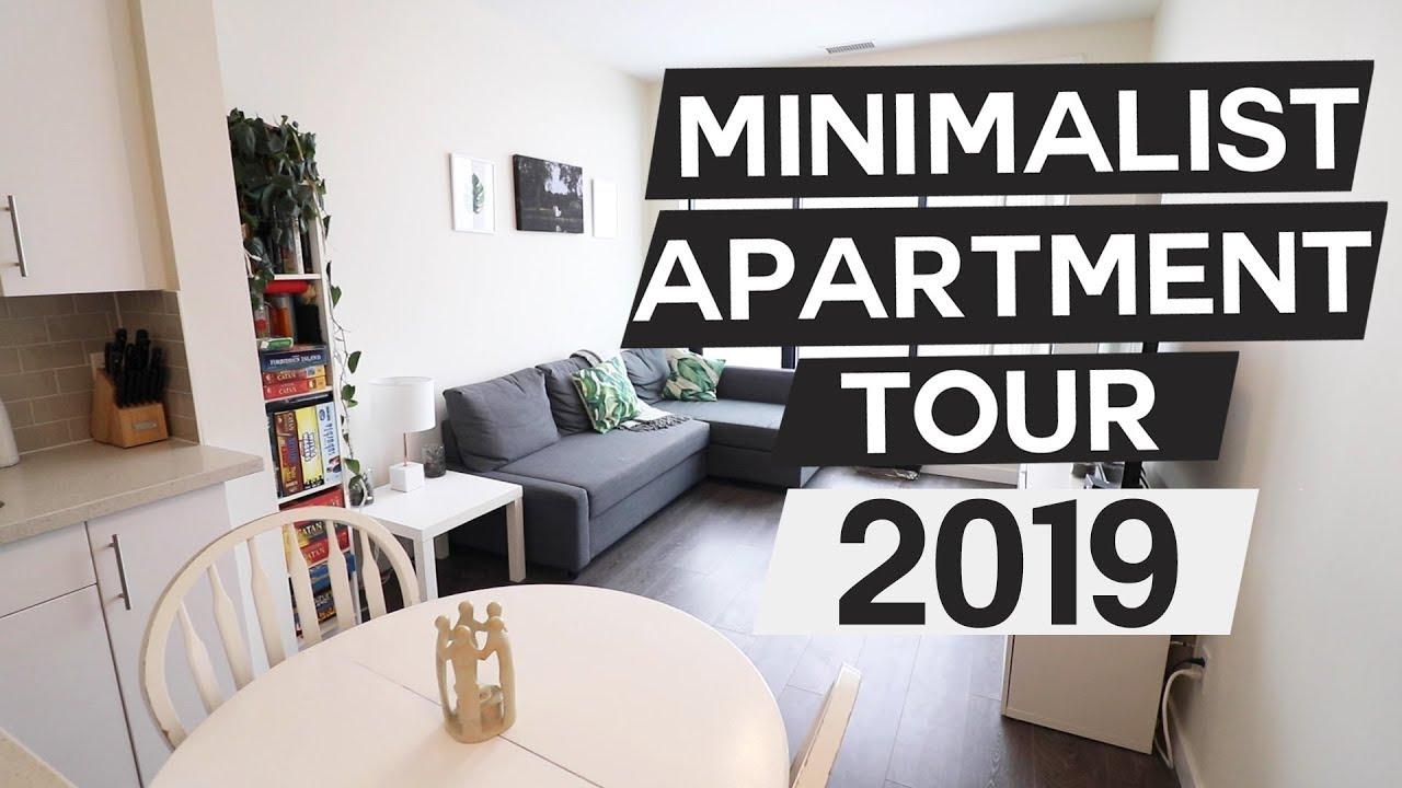 750 Sq Ft Minimalist Apartment Tour 2019 Youtube
