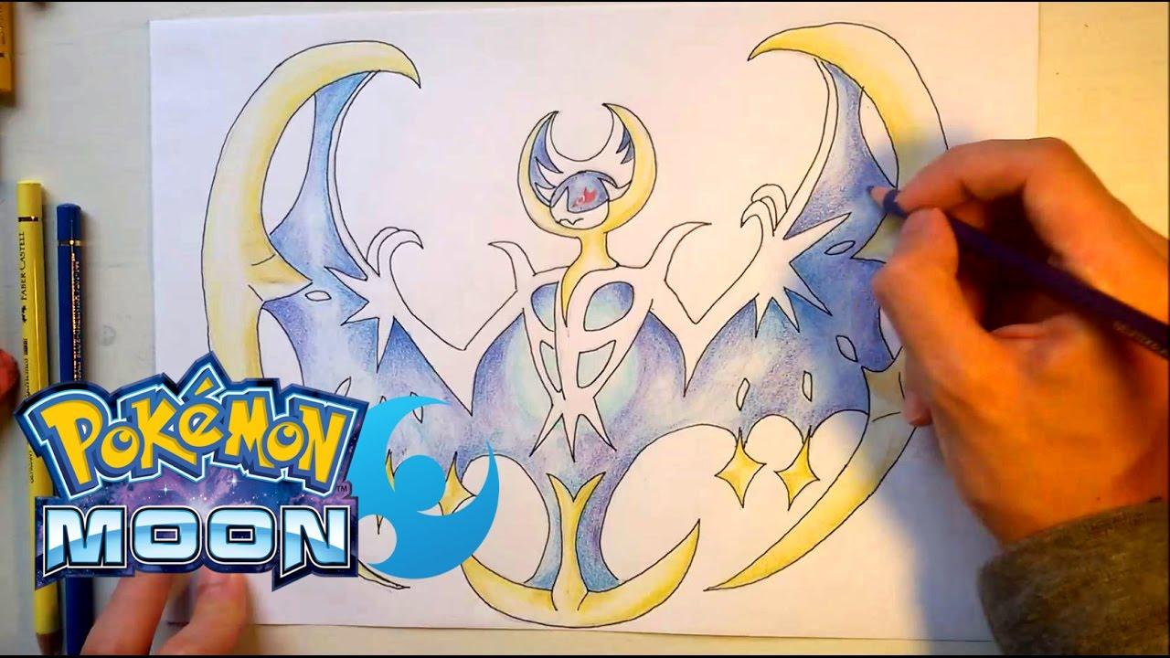 Wie Zeichnet Man Lunala Pokemon Sonne Mond Youtube