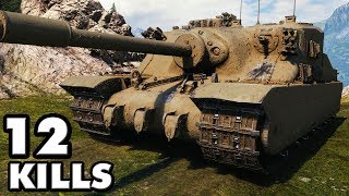 Tortoise - Without Gold Ammo - 12 Kills - World of Tanks Gameplay