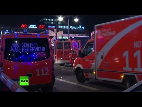 Truck plows into Christmas market in Berlin in likely terrorist attack - aftermath