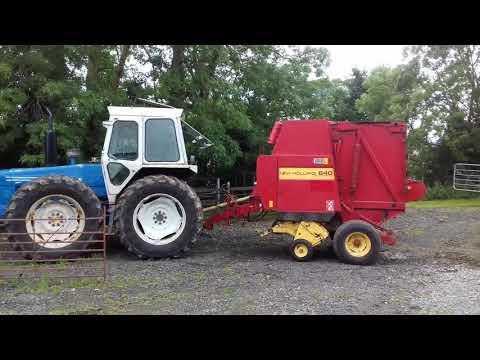 County 1174 new Holland 640 baler