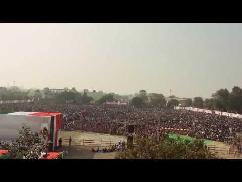 Crowd in Rahul Gandhi's rally in Baran, Rajasthan.
