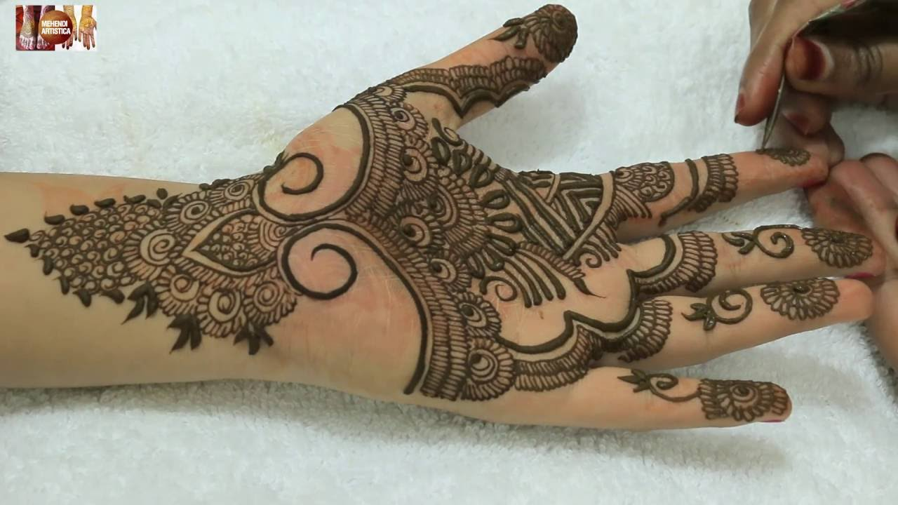 Mehndi Hands With Watch : Easy beautiful artistic mehandi design for hands designer