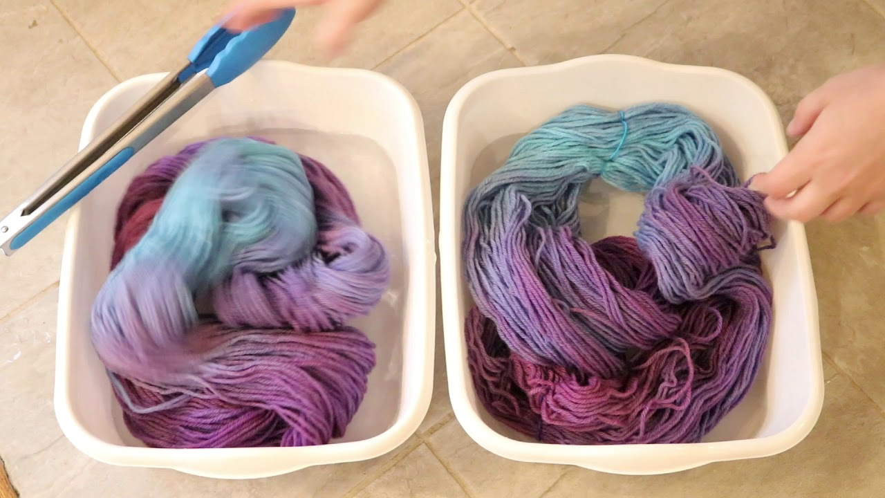 Dyepot Weekly #82 - Will Oxyclean Remove Food Coloring Dye from Wool ...