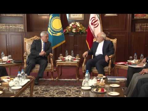Erlan Idrissov Meets with Foreign Minister of Iran Mohammad Javad Zarif